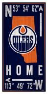 "Edmonton Oilers 6"" x 12"" Coordinates Sign"