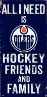"Edmonton Oilers 6"" x 12"" Friends & Family Sign"