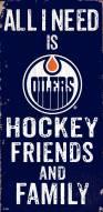 "Edmonton Oilers 6"" x 12"" Friends & Family Sign"