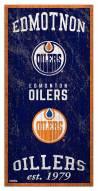 "Edmonton Oilers 6"" x 12"" Heritage Sign"