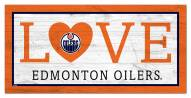 "Edmonton Oilers 6"" x 12"" Love Sign"