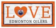 "Edmonton Oilers 6"" x 12"" Love Sign"
