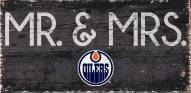 "Edmonton Oilers 6"" x 12"" Mr. & Mrs. Sign"