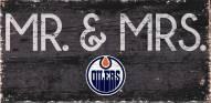 "Edmonton Oilers 6"" x 12"" Mr. & Mrs. Sign"
