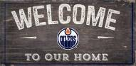 "Edmonton Oilers 6"" x 12"" Welcome Sign"