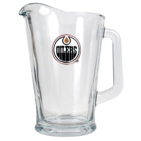 Edmonton Oilers 60 Oz. Glass Pitcher - Primary Logo
