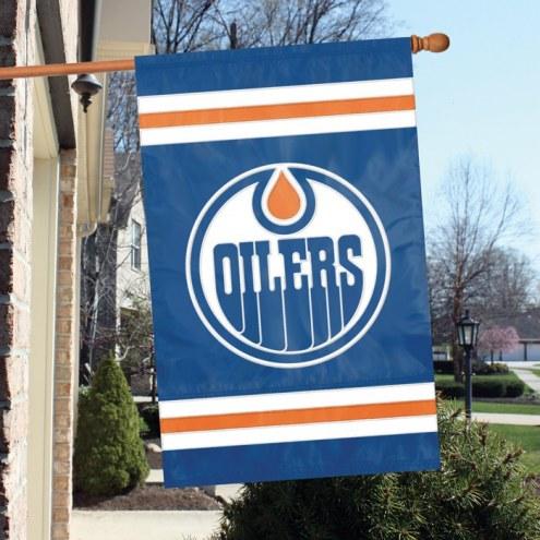 Edmonton Oilers Applique Banner Flag