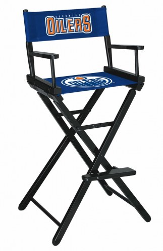 Edmonton Oilers Bar Height Director's Chair