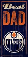 Edmonton Oilers Best Dad Sign