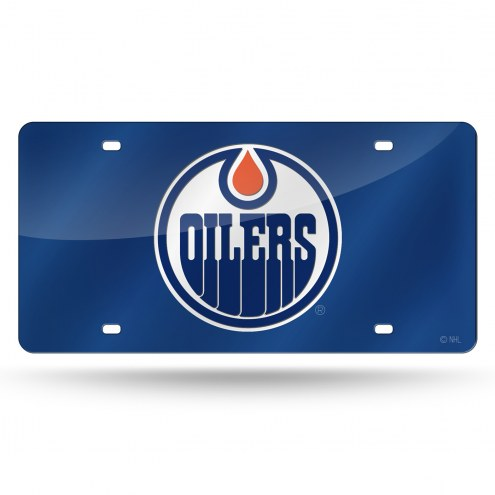 Edmonton Oilers Blue Laser Cut License Plate
