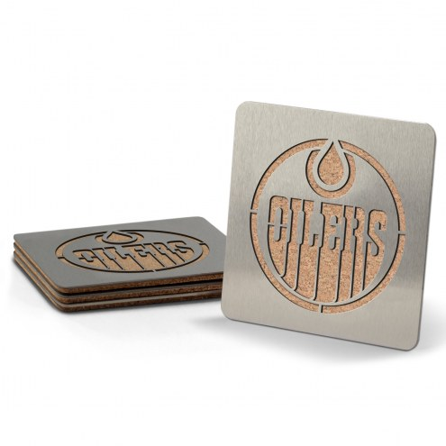 Edmonton Oilers Boasters Stainless Steel Coasters - Set of 4