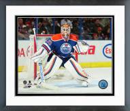 Edmonton Oilers Cam Talbot Action Framed Photo