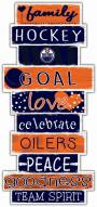 Edmonton Oilers Celebrations Stack Sign