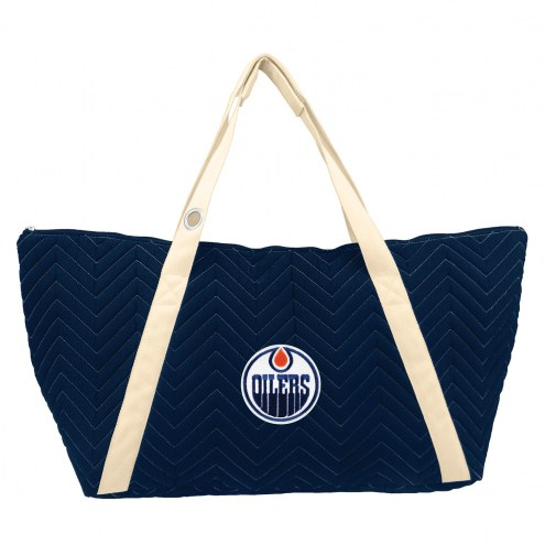 Edmonton Oilers Chevron Stitch Weekender Bag