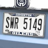 Edmonton Oilers Chrome Metal License Plate Frame