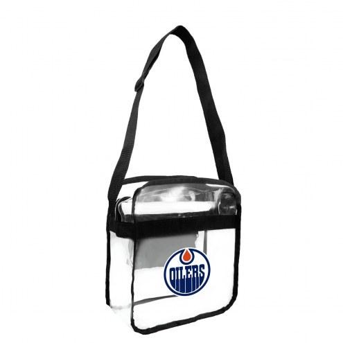 Edmonton Oilers Clear Crossbody Carry-All Bag