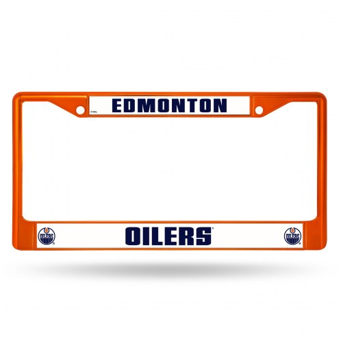 Edmonton Oilers Colored Chrome License Plate Frame