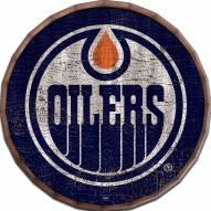 "Edmonton Oilers Cracked Color 24"" Barrel Top"