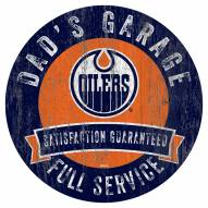 Edmonton Oilers Dad's Garage Sign
