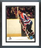 Edmonton Oilers Dave Semenko Action Framed Photo