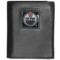Edmonton Oilers Deluxe Leather Tri-fold Wallet in Gift Box