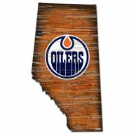 Edmonton Oilers Distressed State with Logo Sign