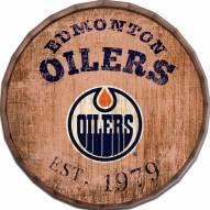 """Edmonton Oilers Established Date 24"""" Barrel Top"""