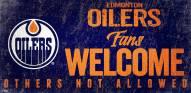 Edmonton Oilers Fans Welcome Sign