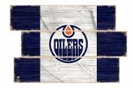 Edmonton Oilers Flag 3 Plank Sign
