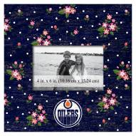 """Edmonton Oilers Floral 10"""" x 10"""" Picture Frame"""