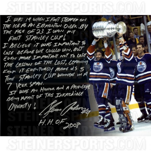 "Edmonton Oilers Glenn Anderson Story Signed 16"" x 20"" Photo"