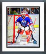 Edmonton Oilers Grant Fuhr 1988-89 Action Framed Photo