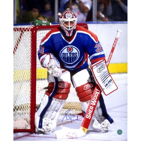 "Edmonton Oilers Grant Fuhr Goalie Signed 16"" x 20"" Photo"