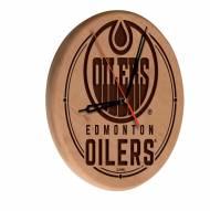 Edmonton Oilers Laser Engraved Wood Clock