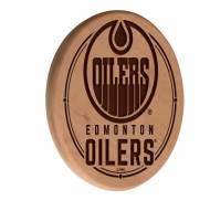 Edmonton Oilers Laser Engraved Wood Sign