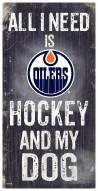 Edmonton Oilers Hockey & My Dog Sign