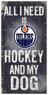 Edmonton Oilers Hockey & My Dog Sign