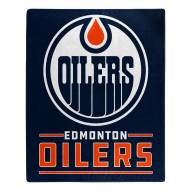 Edmonton Oilers Interference Raschel Blanket