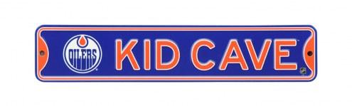 Edmonton Oilers Kid Cave Street Sign