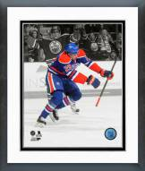 Edmonton Oilers Leon Draisaitl Spotlight Action Framed Photo