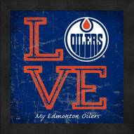 Edmonton Oilers Love My Team Color Wall Decor
