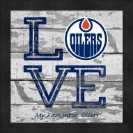 Edmonton Oilers Love My Team Square Wall Decor