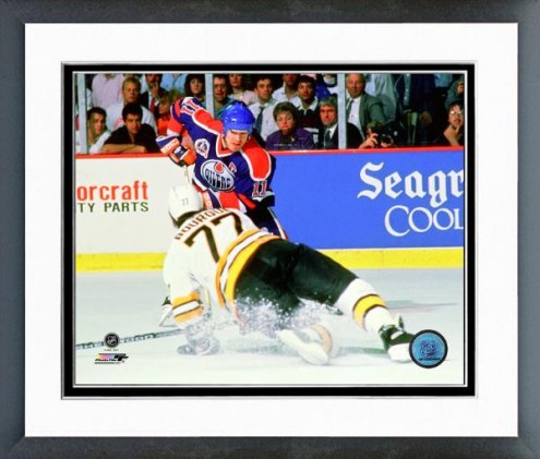 Edmonton Oilers Mark Messier 1989-90 Stanley Cup Finals Action Framed Photo