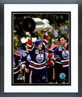 Edmonton Oilers Mark Messier 1990 Stanley Cup Finals Celebration Framed Photo