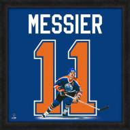 Edmonton Oilers Mark Messier Uniframe Framed Jersey Photo