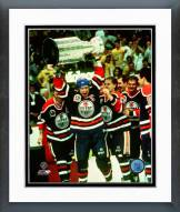 Edmonton Oilers Mark Messier with Stanley Cup Trophy Framed Photo