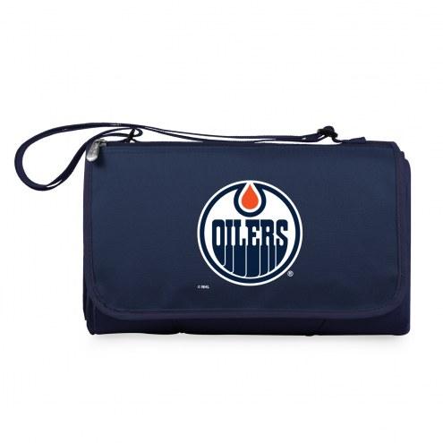 Edmonton Oilers Navy Blanket Tote
