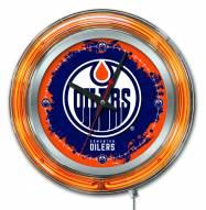 Edmonton Oilers Neon Clock