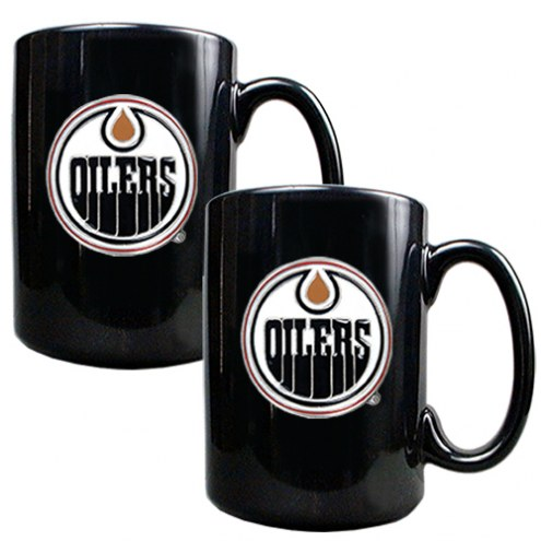 Edmonton Oilers NHL 2-Piece Ceramic Coffee Mug Set