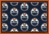 Edmonton Oilers NHL Repeat Area Rug